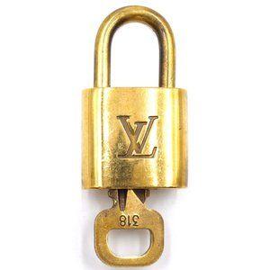 Louis Vuitton Gold Keepall Speedy Lock Key Set#318